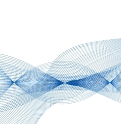 Abstract Blue Wave Set on Transparent Background vector image