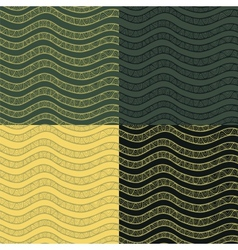 Abstract wavy seamless pattern set in contrast vector image