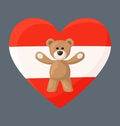 Austrian teddy bears vector