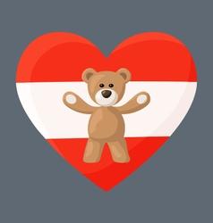 Austrian Teddy Bears vector image vector image
