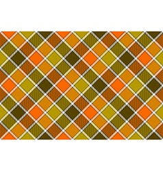 Brown green orange diagonal check seamless pattern vector