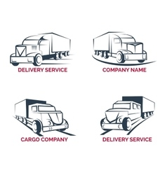 Cargo truck and delivery service logo vector