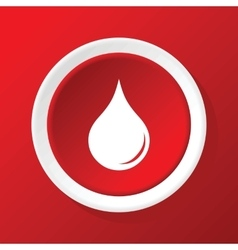 Drop icon on red vector