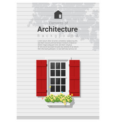 elements of architecture window background 5 vector image vector image
