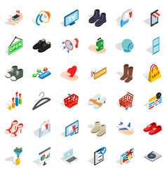 Hanger icons set isometric style vector