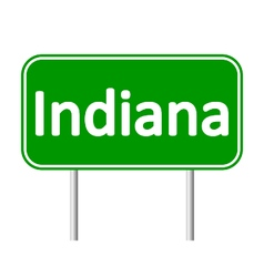 Indiana green road sign vector