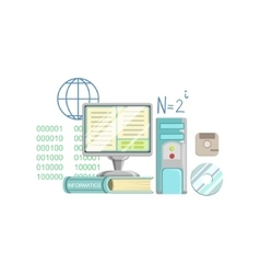 Informatics class set of objects vector