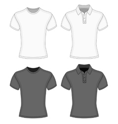Mens t-shirt and polo-shirt vector image vector image