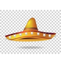 Mexican sombrero hat headwear mexico vector