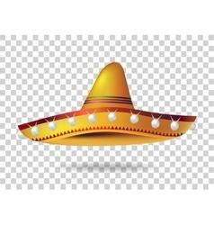 Mexican Sombrero Hat headwear Mexico vector image