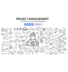 Personal recruitment concept with Doodle design vector image vector image