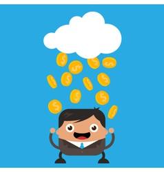 Raining gold coins vector