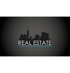 real estate concept vector image vector image