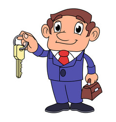 realtor offering key to the apartment 2 vector image