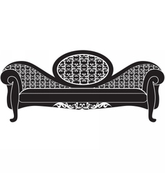 Rich carved ornaments furniture vector