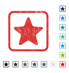 Star icon rubber watermark vector