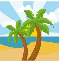 summer palms tree vector image vector image