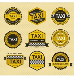 Taxi insignia vintage style vector image