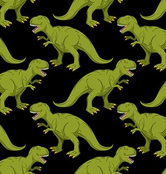 Tyrannosaurus seamless pattern Angry prehistoric vector image