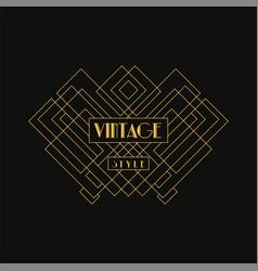 Vintage style logo retro luxury geometric vector