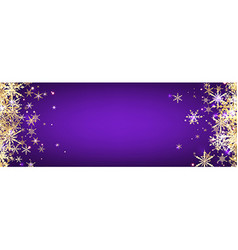 Violet winter banner with snowflakes vector