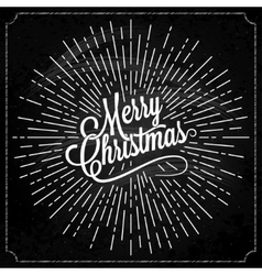 Christmas Logo On Chalk Background vector image