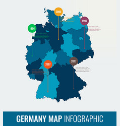 Germany map infographic template all regions are vector
