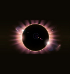 eclipse background vector image