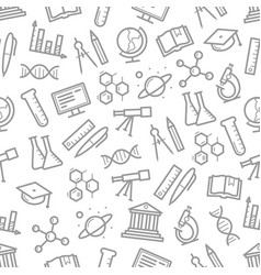 Seamless pattern of science symbols vector
