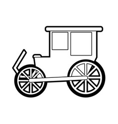 sketch silhouette image wedding carriage without vector image