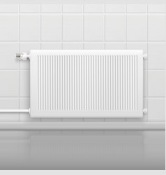 hot water radiator realistic image vector image