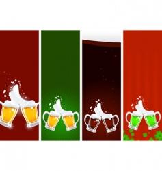 Beers banners vector