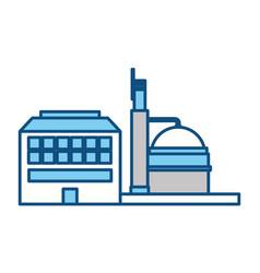 Refinery plant silhouette vector