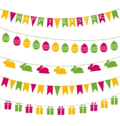 Easter garlands vector image