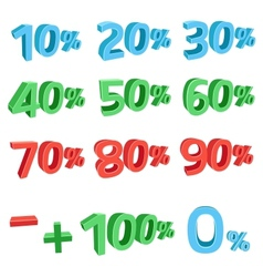 3D discount sums vector image