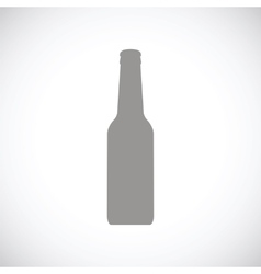 Bottle black icon vector