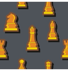 Seamless background with chess for your design vector