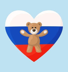 Russian teddy bears vector