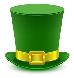 Patrick green hat with gold buckle vector