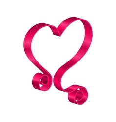 Pink tape ribbon in form heart for happy vector
