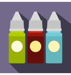 Refill bottles icon flat style vector