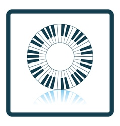 Piano circle keyboard icon vector image