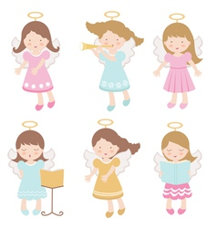 Angels set vector image vector image