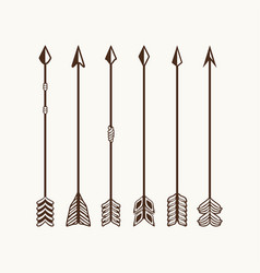 arrows set for logo vector image vector image