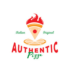 authentic italian pizza vector image vector image
