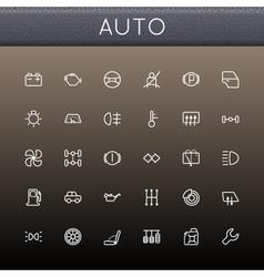 Auto line icons vector