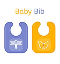 Baby bib isolated vector