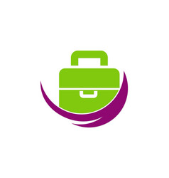Bag travel company logo vector
