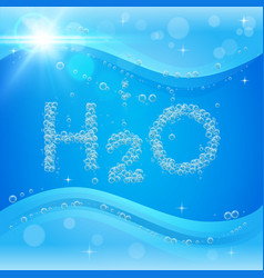 Bubble background blue banner or flyer with water vector