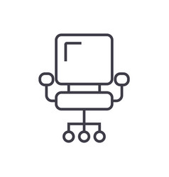 Ceo office chair line icon sign vector